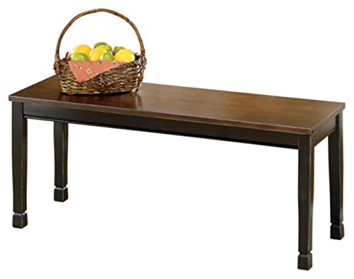 - Ashley Furniture Signature Design - Owingsville Dining Bench - Rectangular - Black and Brown