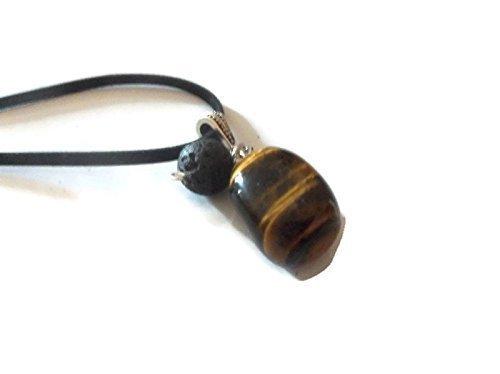 Tiger Eye Gemstone Necklace Lava Rock Aromatherapy Essential Oil Diffuser Pendant Spiritual Crystal Jewelry