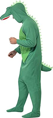 Smiffy's Men's Crocodile Costume All In One with Hood