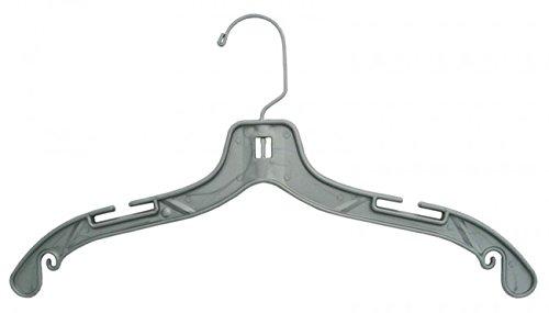 NAHANCO 44405 17'' Pewter Jumbo Weight Dress Hanger (Pack of 100) by NAHANCO