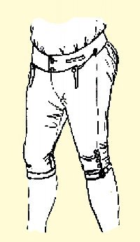 1700's Men's Fall Front Breeches Pattern (Medium- 34-36