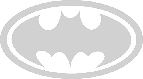 Batman Symbol Auto Car All Weather 4 Seasons Hood Window Decal Vinyl Bumper Sticker Mural Silver 15