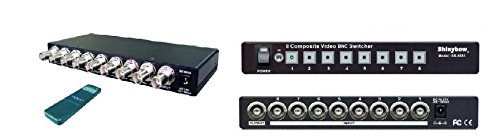8x1 (8:1) Composite BNC Video Switch Switcher Selector + IR Remote - Manual Box Bnc Switch