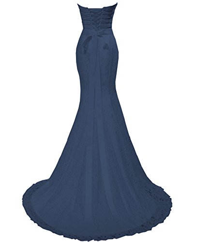 sposa da di con Costume sirena sposa Navy fascia sera pizzo da abiti Solovedress da abito 18BTqwn