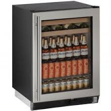 "U-Line U1024BEVS00A Built-in Beverage Center, 24"", Stainless Steel"