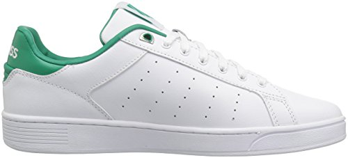 K-Swiss Women's Clean Court CMF Sneaker White/Emerald Green store cheap price VUb36