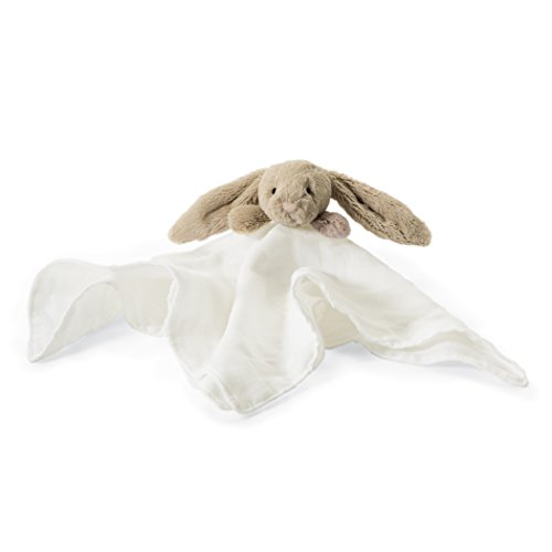 - Jellycat Bashful Beige Bunny Muslin Soother Baby Security Blanket, 15 inches x 15 inches