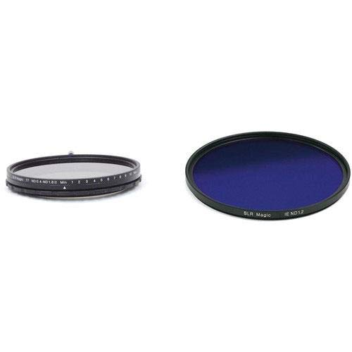 SLR Magic 82mm Self-Locking Variable ND 0.4 to 1.8 Filter and 86mm Solid Image Enhancer ND 1.2 Filter