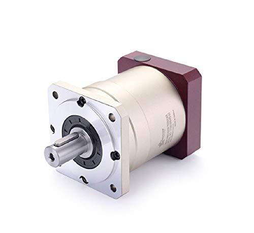 (Ochoos 90 Double Brace Spur Gear Planetary Reducer Gearbox 8 arcmin 3:1 to 10:1 for 750w AC servo Motor Input Shaft 19mm)