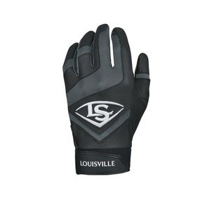 Louisville Slugger Genuine Adult Batting Gloves - Large, Black