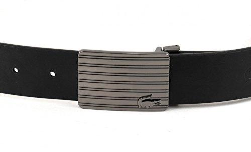 LACOSTE Welded Raw Edges Belt W110 Black/Brown