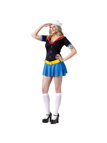 [Fun World Sexy Womens Popeye Sailor Halloween Costume S/M] (Popeye Costumes)