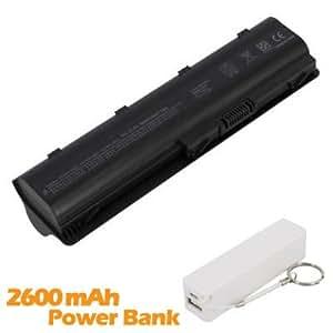 Battpit Bateria de repuesto para portátiles HP Pavilion g6-1B61 (6600 mah) con 2600mAh Banco de energía/batería externa (blanco) para Smartphone