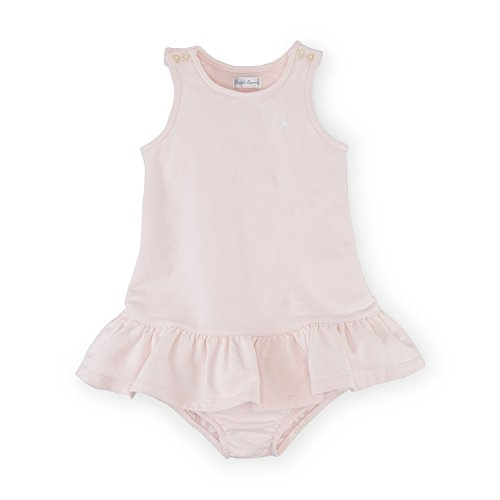 Bloomers Terry - Ralph Lauren Baby Girls French Terry Dress & Bloomer (9 Months, Morning Pink)