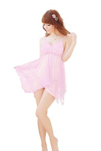 Sofishie Women's Sheer Lace Babydoll with G-String