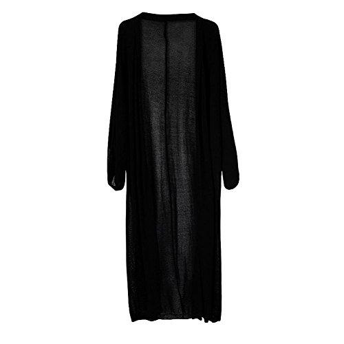 (ワンース) Wansi カーディガン レディース 夏 ロング丈 日焼け 冷房 対策 ゆったり 体型カバー 無地 カットソー 羽織