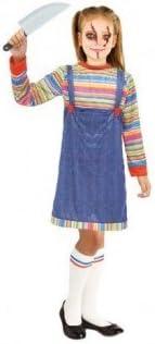 Partilandia Disfraz Muñeca Asesina para niña (2-4 años) Halloween ...