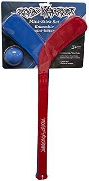 Road Warrior Mini Hockey Stick Set with Ball   Mini Hockey for Kids, Multi (ROA-HOC-RWMSS1)