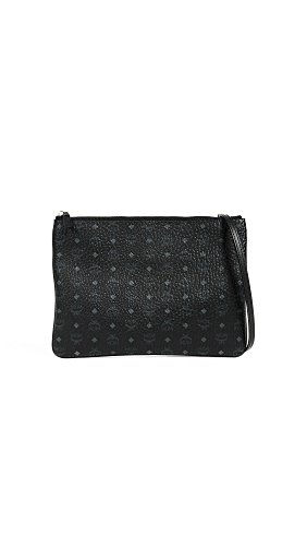 MCM Black Women's Medium Visetos Pouch 8wwpfqnvF