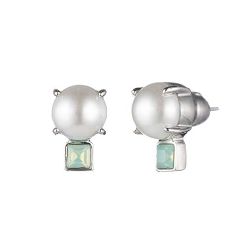 Carolee Pendent Pearl And Stone Stud Earring