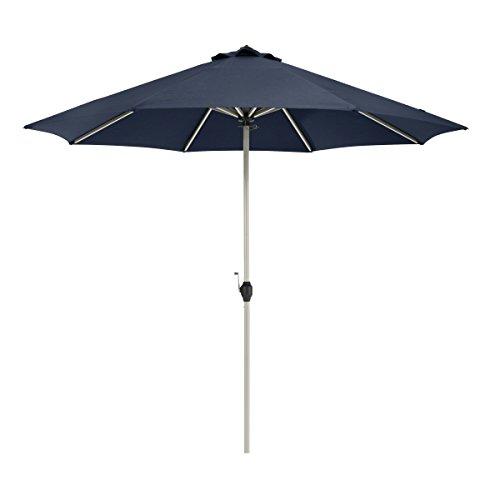 Classic Accessories Montlake FadeSafe 9-Foot Round Aluminum Patio Umbrella, Heather Indigo