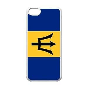 iPhone 5C Phone Case White Barbados Flag AH1115002