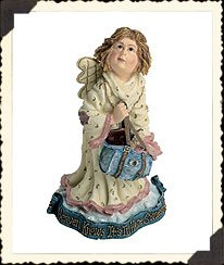 BOYDS HEAVEN KNOWS...ANGELS COLLECTION ~ GLADYS D. CLUTTERBAG...THE LOST (Angel Bear Figurine)