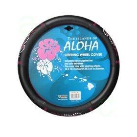 Pink Hawaiian Aloha Hibiscus Flower Comfort Grip Steering Wheel Cover (Steering Wheel Flowers compare prices)