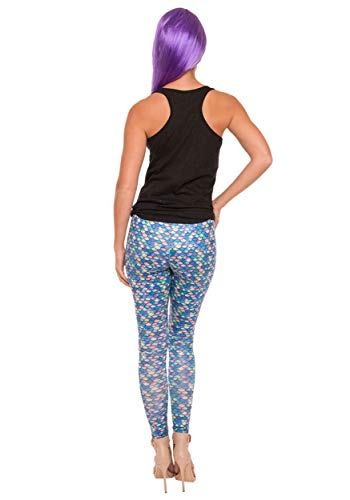 Women's Mermaid Print Leggings - Small