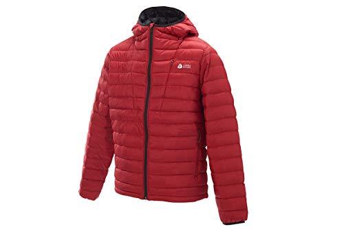 Sierra Designs Men's Whitney DriDown Hoodie, 800 Fill Winter Jacket, X-Large, Chili/Black