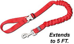 Drag-Free Pet/Dog Leash w/ Quick Release Handle - 5\' - Red