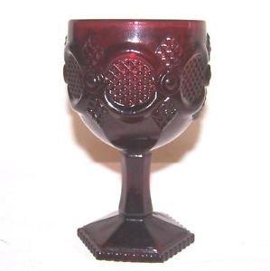 - avon ruby red Water Goblet
