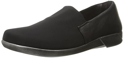 Women's Leather Black Black Flat Jet Naot Abstract Stretch wP0wad