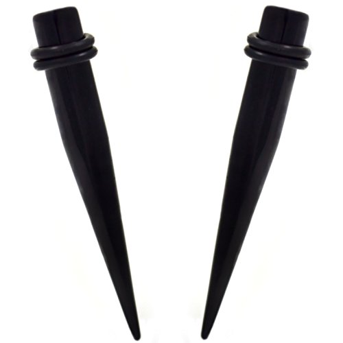 Pair of Black Acrylic Straight