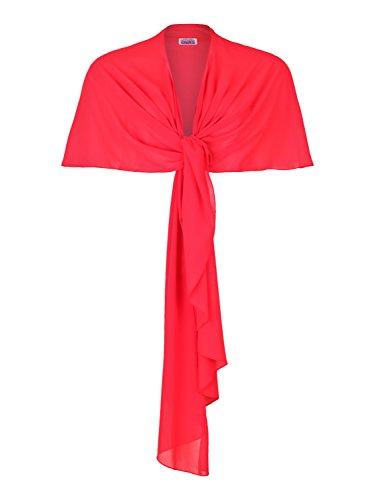 4tuality mujer Bolero rojo mangas sin nxFvHwt