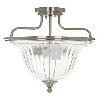 Dome Flush Mount Lighting Fixture in Polished Chrome Finish Nuvo 60-4271