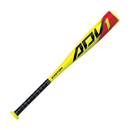 EASTON ADV1 -13 USA Youth / Kids Tee Ball Baseball Bat | 2 5/8 Barrel | 2020 | 1 Piece Composite | Hyperlite Composite Engineered - Fastest Swing Weight Tee Ball Bat | Comfort Grip | Tball Bat