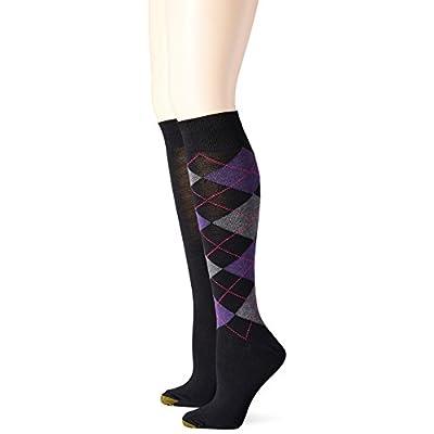 Gold Toe Women's Argyle Knee High Sock (Pack of 2) at Women's Clothing store
