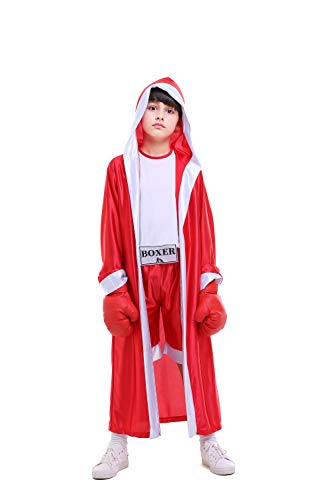 ROZKITCH Children Boxer Halloween Boxing Costume Dress-Up Role Play Party Red