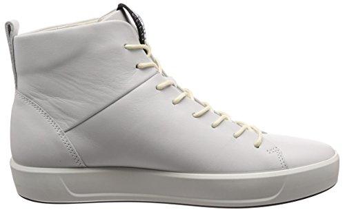 a Soft Alto Bianco Men's Collo Sneaker 8 ECCO White Uomo IPdnwCqHnx