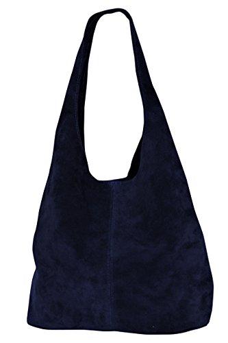 hombro para oscuro Bolso para WL818 azul de cuero mujer 51pqxwqOa7