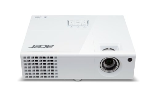 Acer P1173 SVGA DLP Projector, 3000 Lumens, 3D, White