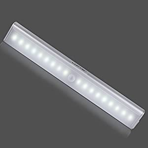 Lofter Rechargeable Motion Sensing Light Bar Wireless Aluminum Alloy Metal LED Closet Light with Magnetic Strip,3M Adhesive, Auto On/Off Switch for Un