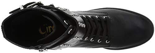 Edelman Studded Boot Black Combat Sam Deena Women's Strapwaxy dxYqwBvA1