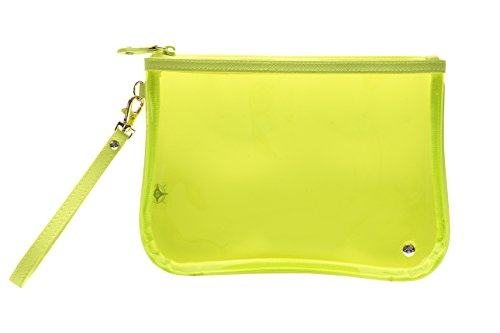 Stephanie Johnson Women's Miami Large Flat Wristlet, Neon Yellow