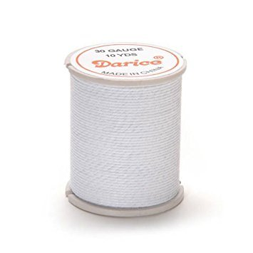- Darice Bulk Buy DIY Cloth Covered Wire 30 Gauge White 10 Yards (6-Pack) 32032-5
