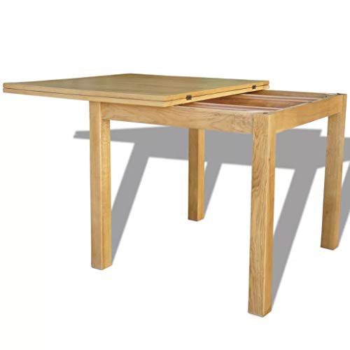 (Tidyard Extendable Table Oak 67 Inches x33.5 Inches x29.5 Inches Modern Dining Table, Transforms from a Console Table or Desk)