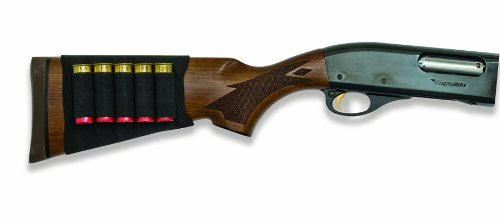 Mossy Oak Hunting Accessories Mossy Oak Buttstock Shotgun Shell Holder (black, One Size), - Shotgun Ammo Holder