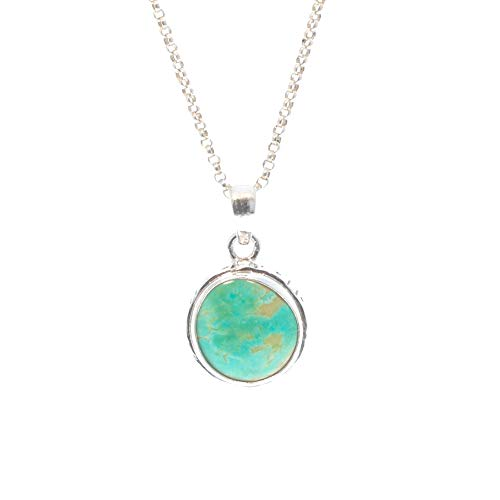 FREEFORM BROKEN ARROW Variquoise/Turquoise Pendant Sterling