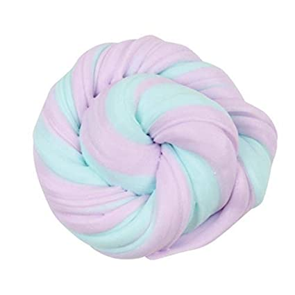 Buy JULIANA Fluffy Slime Clay Non Toxic Crystal Pink and Blue Mud